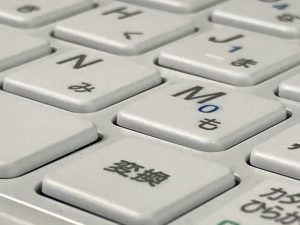 マウスコンピューターm-Bookキーボード